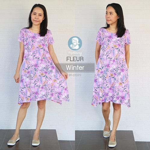 Fleur (Winter) เสื้อให้นม ตัวยาว ให้นมแบบแหวกด้านข้าง