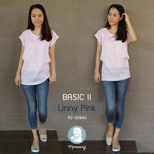 Basic II (Linny Pink) - เสื้อให้นม แบบแหวกข้าง