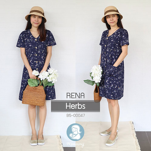 Rena (Herbs) - ชุดให้นม แบบกระดุมหน้า