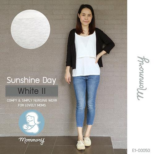 Sunshine Day (White II) - เสื้อชั้นในให้นม สายเดี่ยว