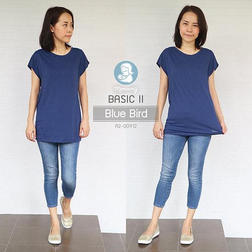 Basic II (Blue Bird) - เสื้อให้นม แบบแหวกข้าง