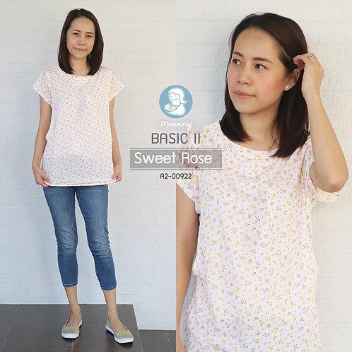 Basic II (Sweet Rose) - เสื้อให้นม แบบแหวกข้าง