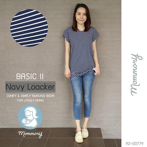 Basic II (Navy Loacker) - เสื้อให้นม แบบแหวกข้าง
