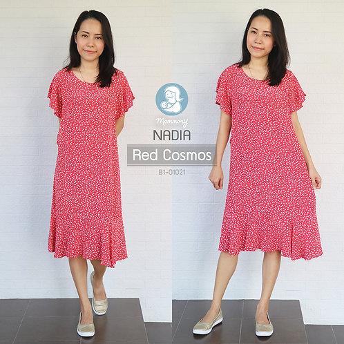 Nadia (Red Cosmos) - เดรสให้นมบุตร แบบแหวก