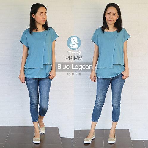 Primm (Blue Lagoon)  - เสื้อให้นม แบบแหวก