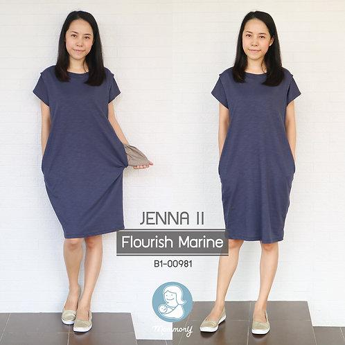 Jenna II (Flourish Marine) - เสื้อให้นม/ชุดให้นม แบบแหวก