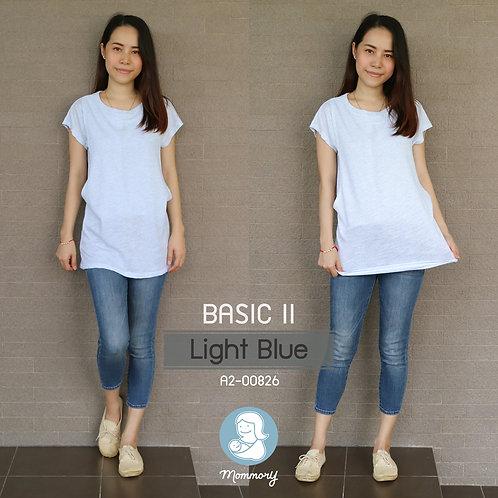 Basic II (Light Blue) - เสื้อให้นม แบบแหวกข้าง