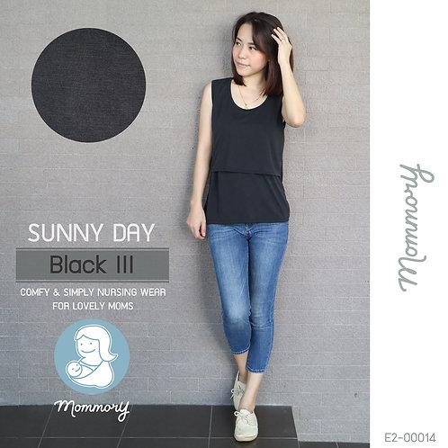 Sunny Day (Black III) - เสื้อแขนกุดให้นม