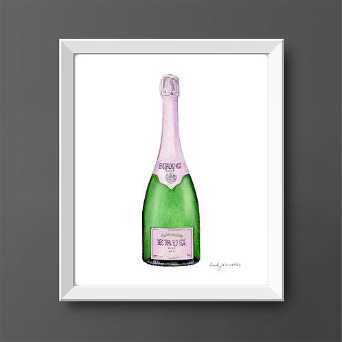 Krug Rosé Champagne Bottle *ORIGINAL PAINTING*
