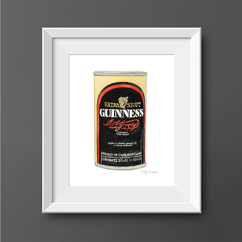 Guinness Vintage Can *Original Painting*