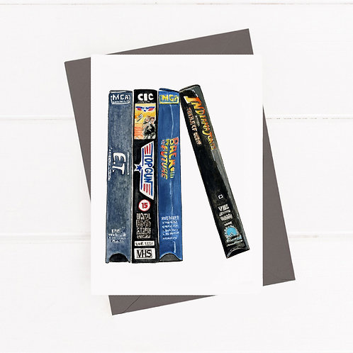VHS Tapes - Greeting Card