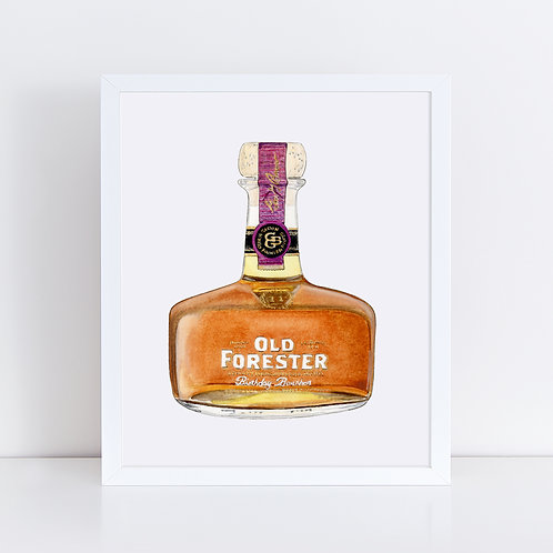 Old Forester Bourbon Bottle