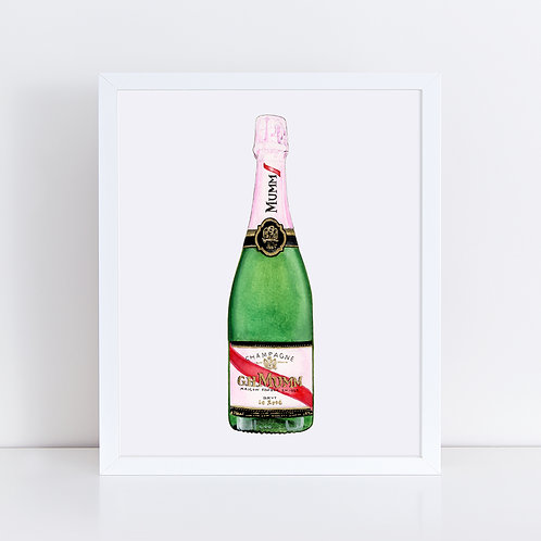 G.H. Mumm Rosé Champagne Bottle