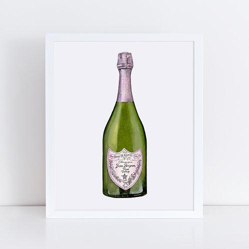Dom Perignon Rosé Champagne Bottle
