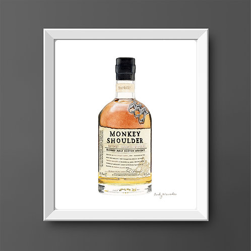 Monkey Shoulder Scotch Whisky Bottle *ORIGINAL PAINTING*