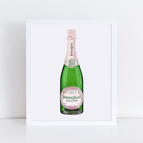 Perrier-Jouet Rosé Champagne Bottle