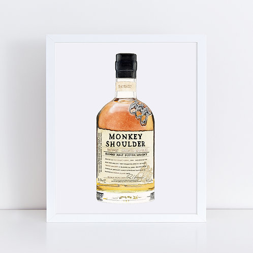 Monkey Shoulder Scotch Whisky Bottle *ORIGINAL PAINTING*