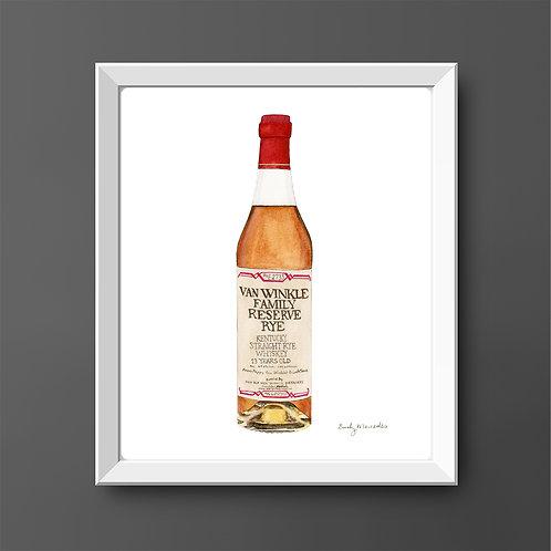 Van Winkle Family Reserve Rye Bourbon Bottle *ORIGINAL PAINTING*