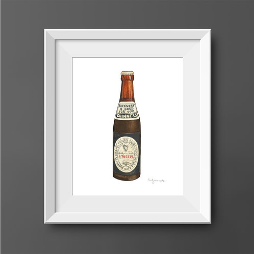 Guinness Foreign Extra Stout Bottle *ORIGINAL PAINTING*