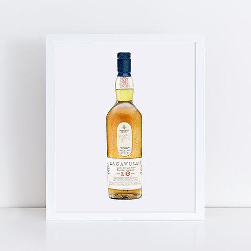 Lagavulin 16 Year Scotch Whisky Bottle