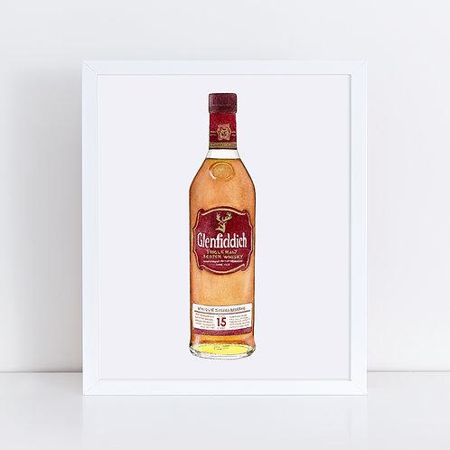 Glenfiddich 15 Year Scotch Whisky Bottle