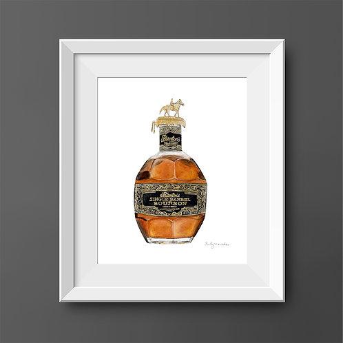 Blanton's Single Barrel - Round Two - Bourbon Bottle *ORIGINAL PAINTING*