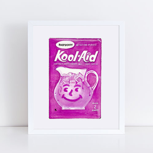 Raspberry Kool-Aid *ORIGINAL PAINTING*