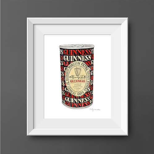 Guinness x 11 Can *Original Painting*