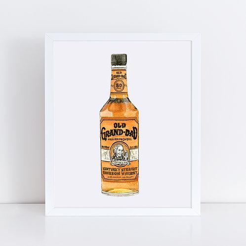 Old Grand-Dad Bourbon Bottle