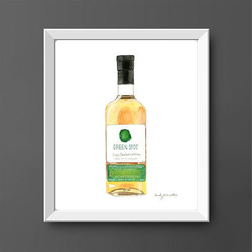 Green Spot Whiskey Bottle *ORIGINAL PAINTING*