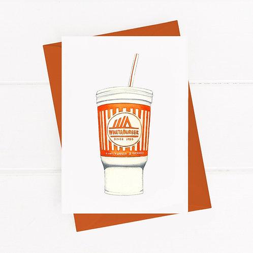 Whataburger Cup - Greeting Card