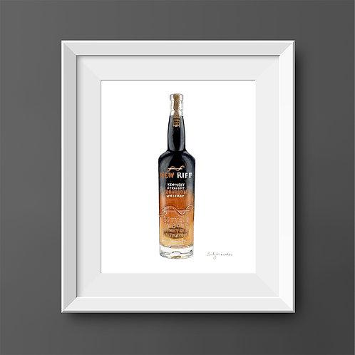 New Riff Bourbon Bottle *ORIGINAL PAINTING*