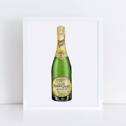 Perrier-Jouet Champagne Bottle