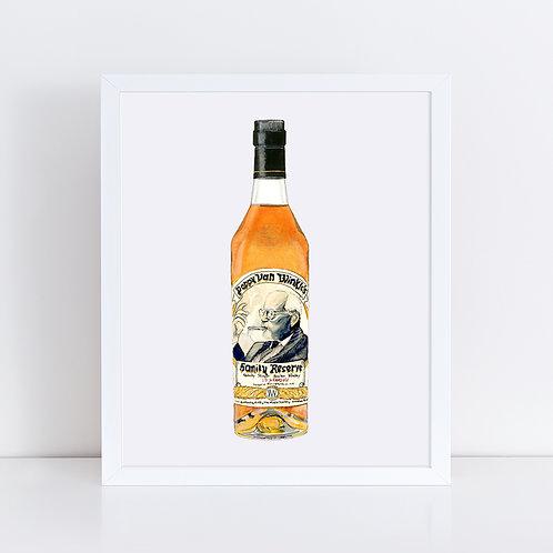 15 Year Pappy Van Winkle Bourbon Bottle