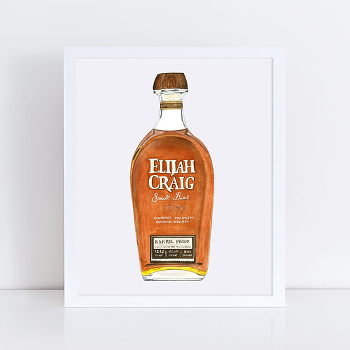Elijah Craig Whiskey Bottle