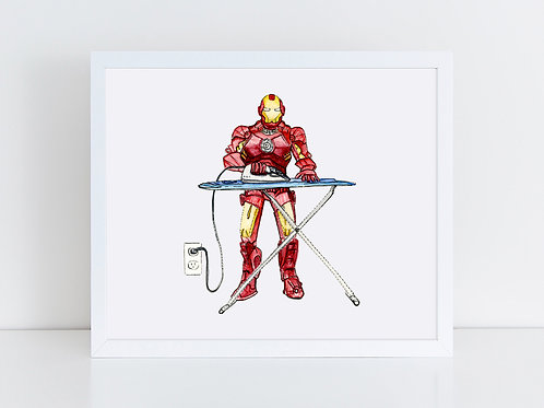 Iron Man Ironing