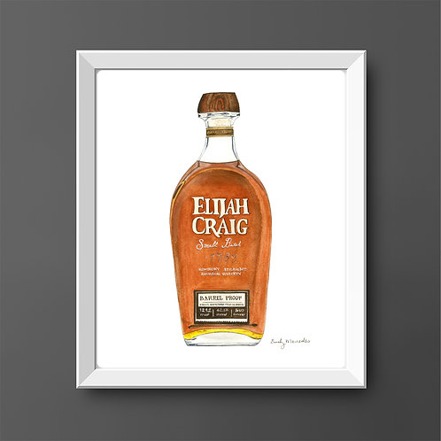Elijah Craig Bourbon Bottle *ORIGINAL PAINTING*