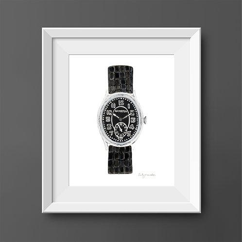 Hamilton Wristwatch *ORIGINAL PAINTING*