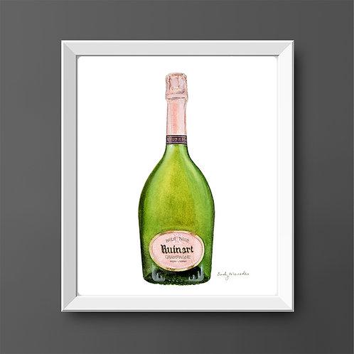 Ruinart Rosé Champagne Bottle *ORIGINAL PAINTING*