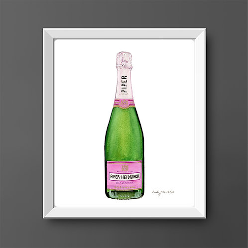Piper-Heidsieck Rosé Champagne Bottle *ORIGINAL PAINTING*
