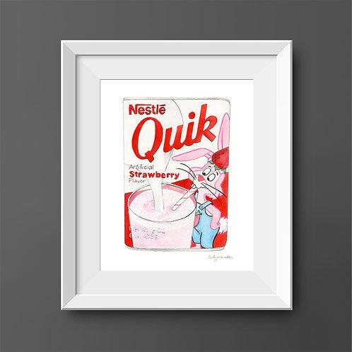 Strawberry Nestlé Quik *ORIGINAL PAINTING*