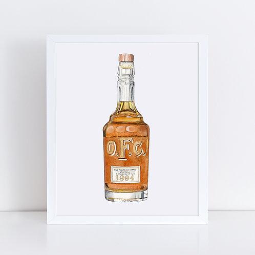 O.F.C. Bourbon Bottle