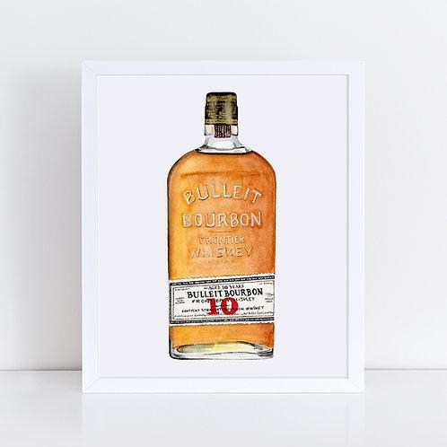 Bulleit Bourbon 10 Year Bottle