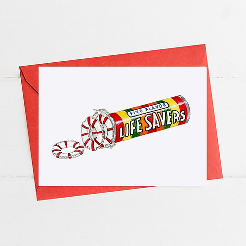 Life Savers - Greeting Card