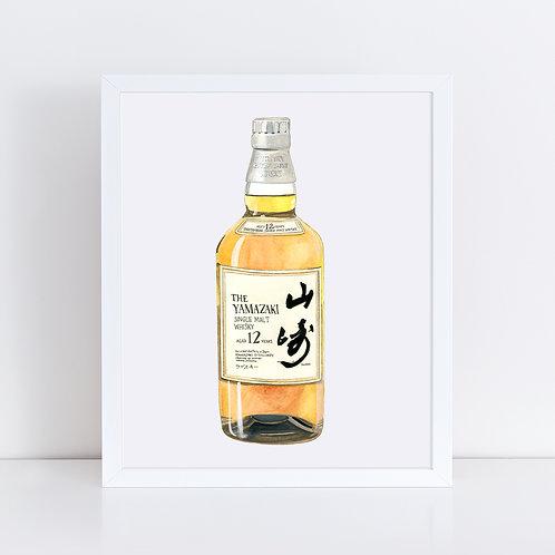 The Yamazaki 12 Whisky Bottle *ORIGINAL PAINTING*