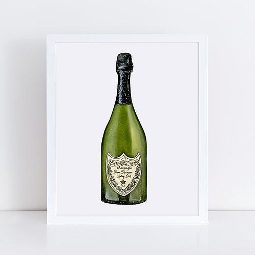 Dom Perignon Champagne Bottle
