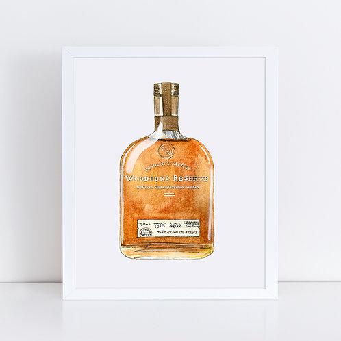 Woodford Reserve Bourbon Bottle