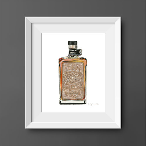 Rhetoric 22 Whiskey Bottle *Original Painting*