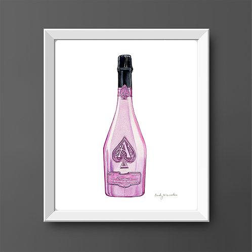 Armand Rosé Champagne Bottle *ORIGINAL PAINTING*