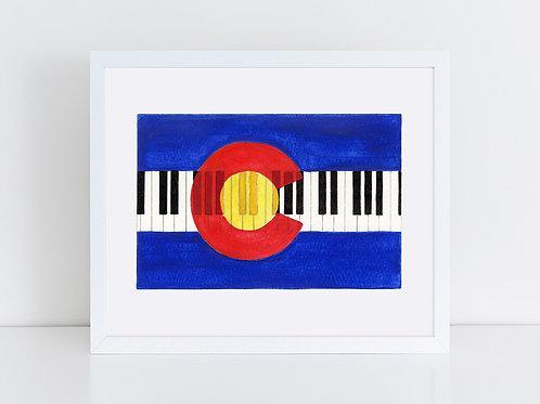 Colorado Flag with Piano